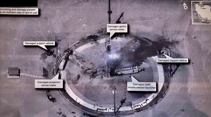 Præsident Donald Trump har delt et foto af iranske raketfaciliteter på Twitter, og det frygtes at kunne afsløre hemmeligheder om USA's overvågning af Iran. Det skriver HovsaDeling.dk. Foto fra Trumps profil på Twitter.